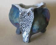 Barnacle Raku Pinch Pot