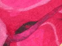 Detail from fuschia scarf with sari silk